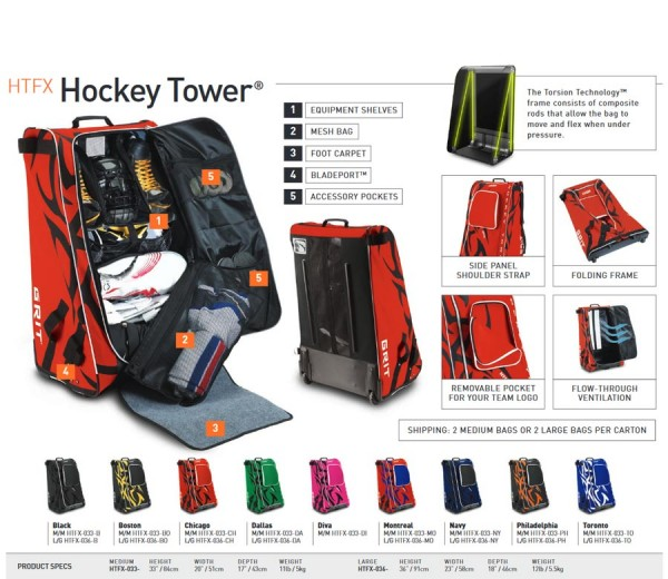 Rollentasche HTFX Hockey Tower Senior